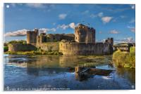 Caerphilly Castle South Facing Walls, Acrylic Print