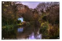 Autumn Afternoon On The Kennet, Acrylic Print