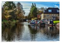 Hungerford Town Wharf And Lock, Acrylic Print
