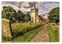 Bucklebury Parish Church Berkshire, Acrylic Print