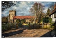 Holy Trinity Church Cookham, Acrylic Print