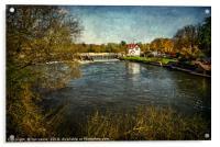 Goring on Thames Weir, Acrylic Print