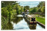 The Oxford Canal At Thrupp, Acrylic Print