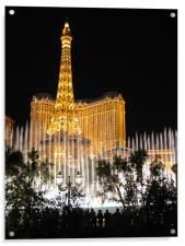 Las Vegas Fountains, Acrylic Print