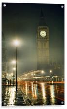 A Glowing Big Ben, Acrylic Print