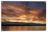 Sunset on the Beagle Channel, Acrylic Print