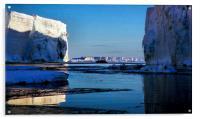 Tabular Icebergs, Cape Roget, Antarctica, Acrylic Print