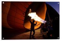 Preparing a Hot Air Balloon, Acrylic Print