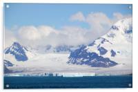 Glacier and Mountains, Acrylic Print