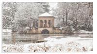 Snowfall,The Roman Boathouse ,Birkenhead park, Acrylic Print