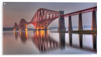 Forth Rail Bridge at sunset, Acrylic Print