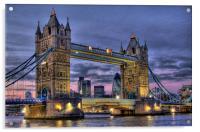 Tower Bridge And The City, Acrylic Print