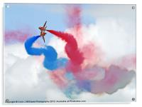 Break ! Red Arrows - Dunsfold 2012, Acrylic Print