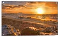 Worthing Beach Sunrise 3, Acrylic Print