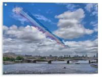 Red Arrows Over London, Acrylic Print