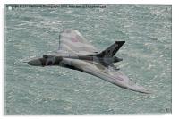 Vulcan XH558 from Beachy Head 1, Acrylic Print