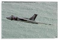 Vulcan XH558 from Beachy Head 4, Acrylic Print