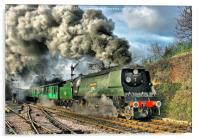 West Country Class Wadebridge Departs, Acrylic Print