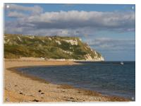 White Nothe and Ringstead Bay, Dorset, UK, Acrylic Print