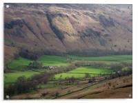 Sunlit Farm in the Lake District, UK, Acrylic Print