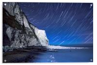 White Cliffs of Dover on a Starry Night, Acrylic Print