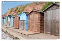 Budleigh Salterton Beach Huts i, Acrylic Print