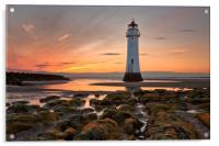 New Brighton Sunset, Acrylic Print