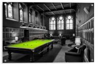 """POT BLACK"" (The Abbey Highland club), Acrylic Print"