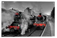 """Llangollen Railway(Santa Special), Acrylic Print"