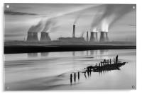 Fiddlers Ferry Power Station, Acrylic Print