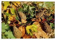 Shades of Autumn Colours, Acrylic Print