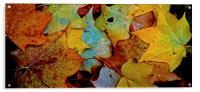 Fallen Autumn Leafs, Acrylic Print