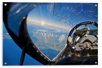A pilot's eye view, Acrylic Print