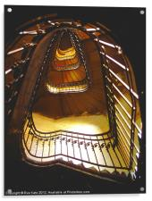 Spiral Stairwell, Acrylic Print