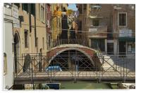 Venetian small canal, Acrylic Print