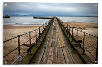 Wooden Pier at Blyth Northumberland, Acrylic Print