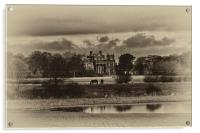 Seaton Delaval Hall in sepia, Acrylic Print