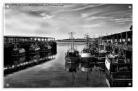 North Shields Fish Quay in B&W, Acrylic Print