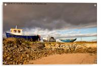 Boatyard under threatening sky, Acrylic Print