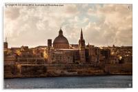Valletta in morning sunshine, Acrylic Print