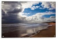Northumbrian beach scene, Acrylic Print