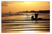 Fishermen at sunrise, Acrylic Print