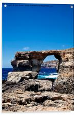 Azure Window, blue sky and blue sea, Acrylic Print