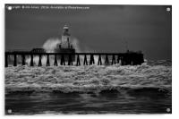 Storm in Black and White, Acrylic Print