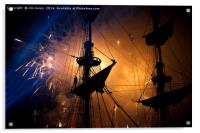 Fireworks and Tall Ships, Acrylic Print