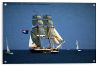 Painterly Sailing Ship, Acrylic Print