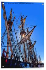 Artistic masts and rigging, Acrylic Print