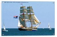 Artistic Tall Ship, Acrylic Print