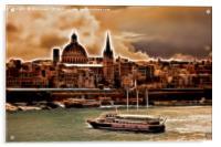Artistic Valletta, Acrylic Print