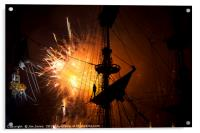 Fireworks and Tall Ships 2, Acrylic Print
